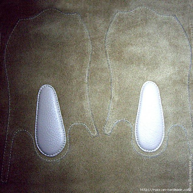Как сшить летние тапочки-следочки из кожи. Мастер-класс (9) (635x635, 294Kb)