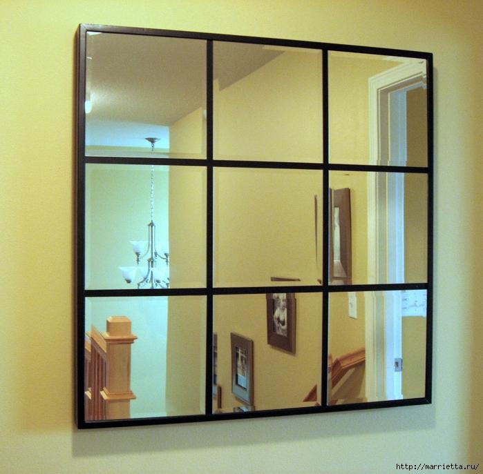 Панно своими руками из зеркальных плиток с фацетом (12) (700x687, 371Kb)