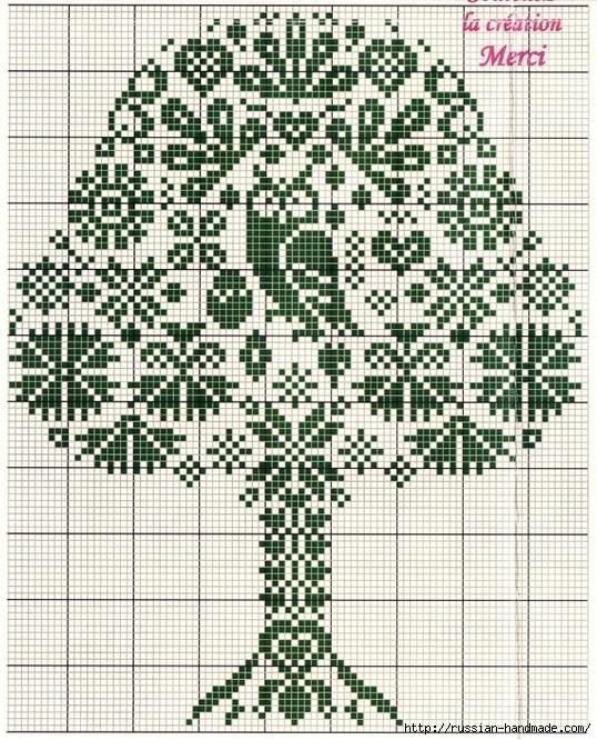 Схемы вышивки крестом. СОВЫ (14) (538x666, 366Kb)