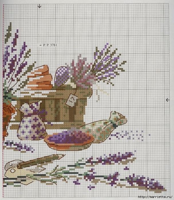 ЛАВАНДА. Схемы вышивки крестом (13) (608x700, 361Kb)
