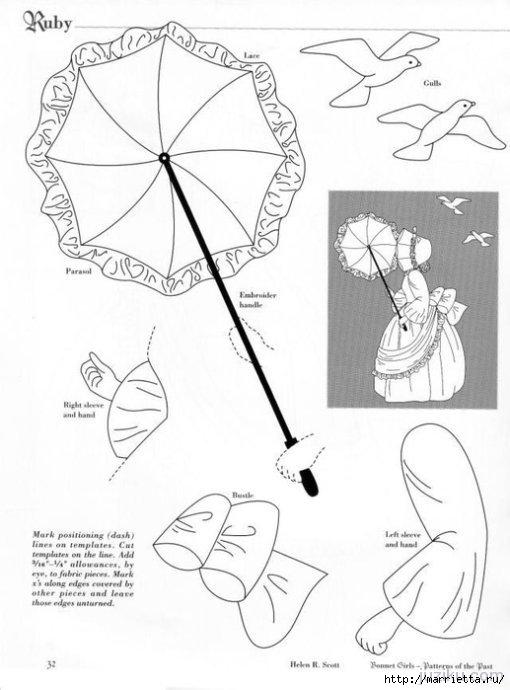 Лоскутное шитье. Журнал Bonnet Girls (1) (510x690, 133Kb)