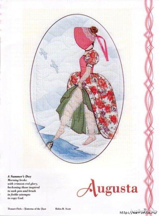 Лоскутное шитье. Журнал Bonnet Girls (30) (510x690, 157Kb)