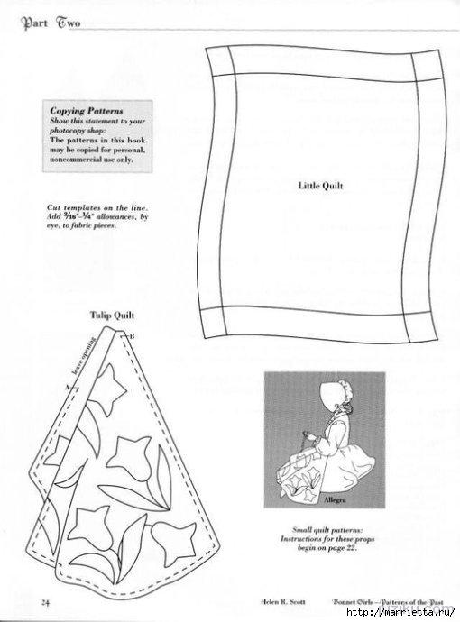 Лоскутное шитье. Журнал Bonnet Girls (36) (510x690, 105Kb)