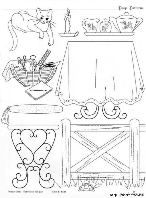 Лоскутное шитье. Журнал Bonnet Girls (41) (510x690, 151Kb)