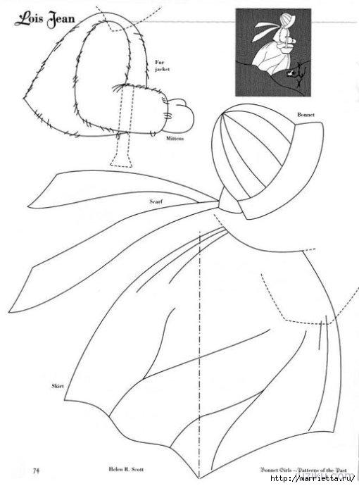 Лоскутное шитье. Журнал Bonnet Girls (45) (510x690, 99Kb)