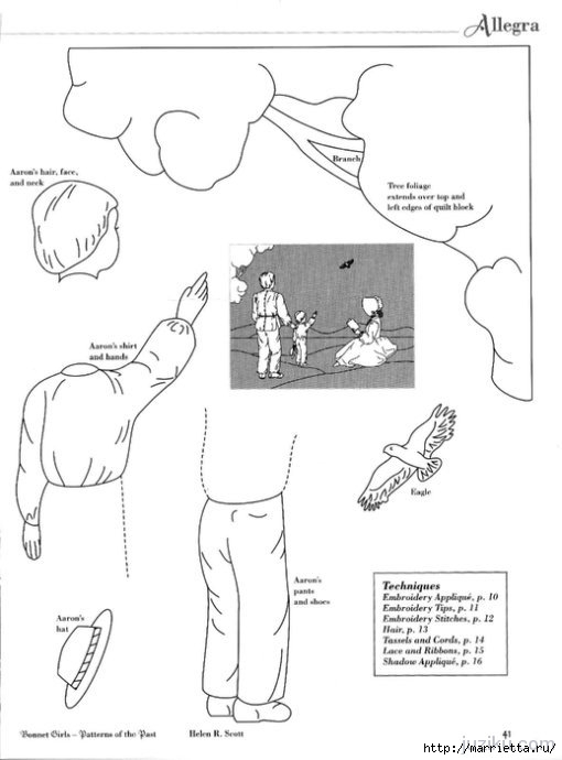 Лоскутное шитье. Журнал Bonnet Girls (49) (510x690, 99Kb)
