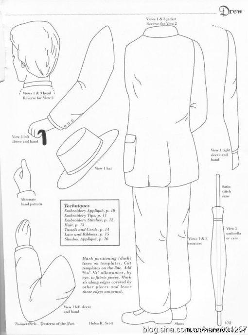 Лоскутное шитье и аппликация. Журнал Bonnet Girls (3) (510x690, 114Kb)