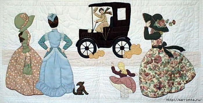 Лоскутное шитье и аппликация. Журнал Bonnet Girls (15) (700x356, 216Kb)