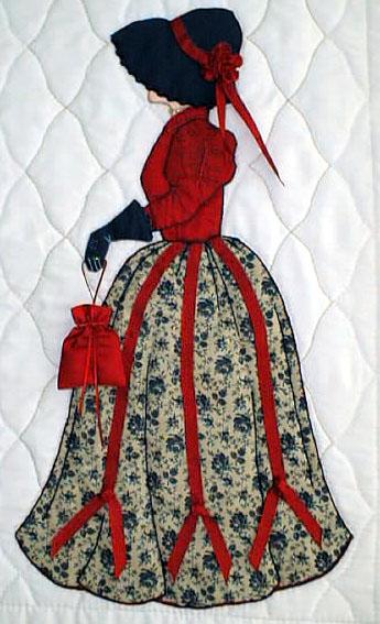 Лоскутное шитье и аппликация. Журнал Bonnet Girls (17) (345x567, 181Kb)