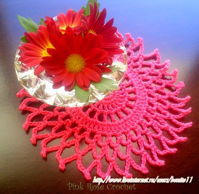 Centrinho Rosa Azalea Crochet Doilie (400x390, 445Kb)