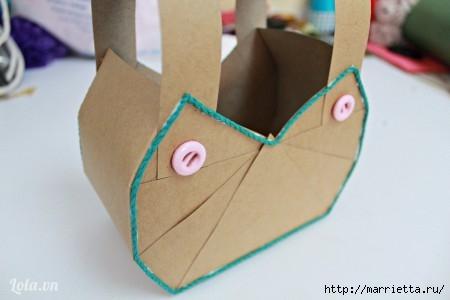 Сумочка-корзинка из картона (4) (450x300, 60Kb)