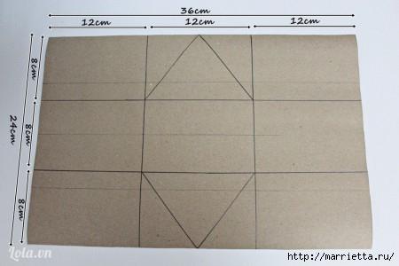 Сумочка-корзинка из картона (8) (450x300, 64Kb)