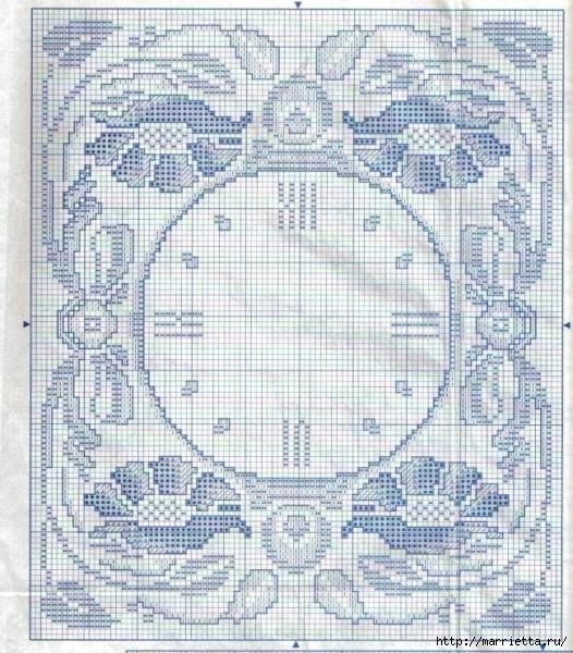 Вышивка крестом. ЧАСЫ (16) (526x600, 307Kb)