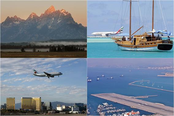 Аэропорты с лучшими видами из иллюминатора