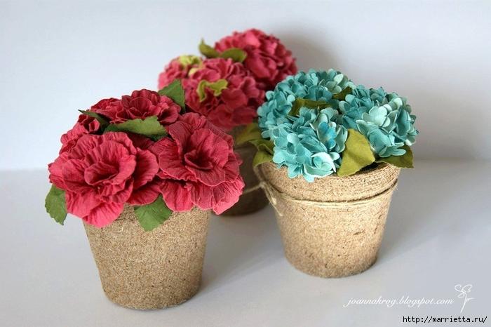 Бумагопластика. Цветочки в торфяных горшочках (34) (700x466, 229Kb)