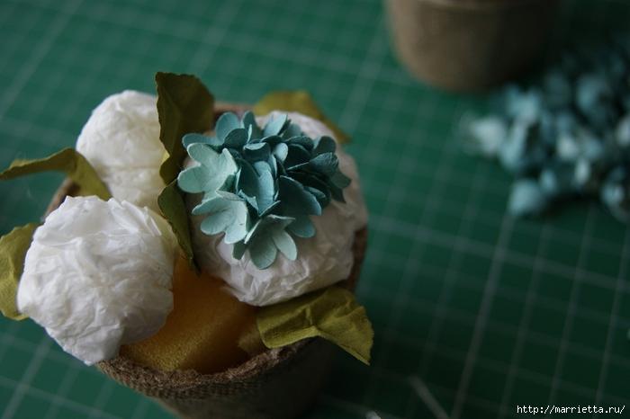 Бумагопластика. Цветочки в торфяных горшочках (40) (700x466, 180Kb)