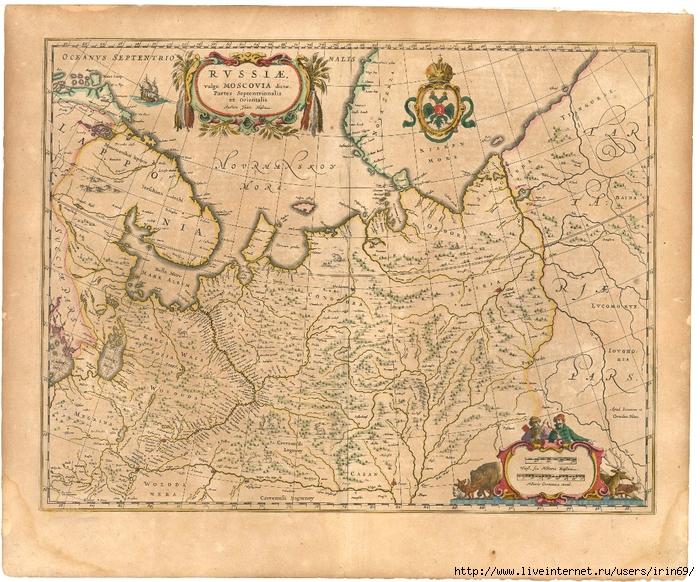 Blaeu_1645_-_Russiæ_vulgo_Moscovia_dictae_partes_septentrionalis_et_orientalis (700x582, 453Kb)