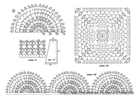 Подборка схем с расширением для вязания 99
