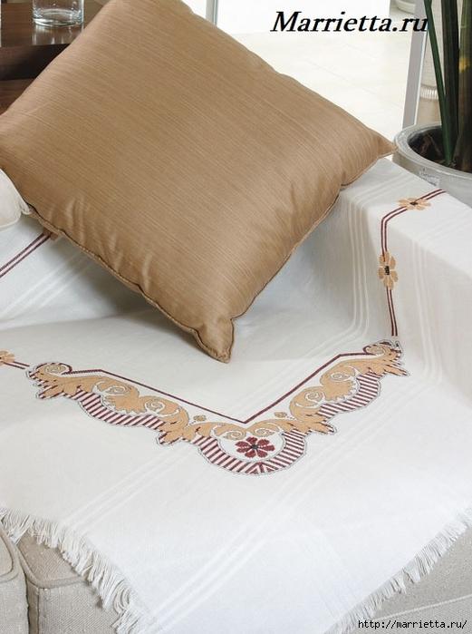 Стильная вышивка для скатерти. Схема (1) (521x700, 228Kb)