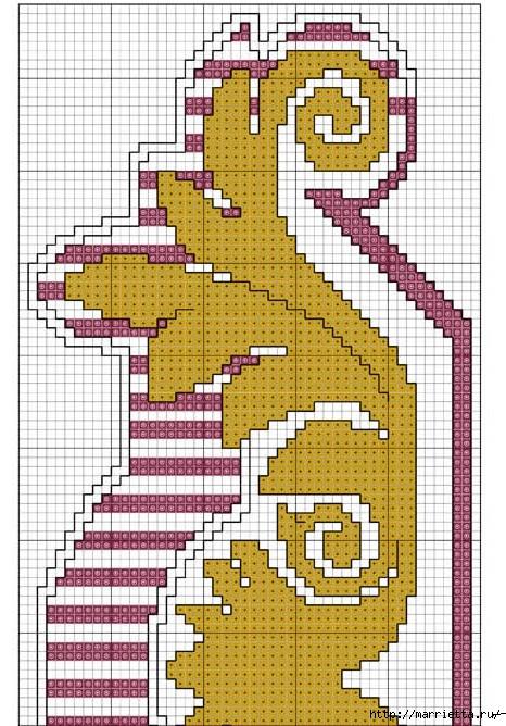 Стильная вышивка для скатерти. Схема (3) (466x668, 295Kb)