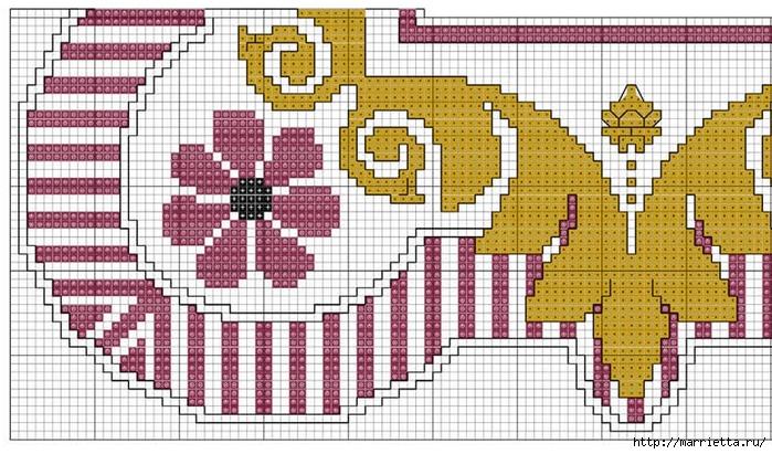 Стильная вышивка для скатерти. Схема (5) (700x411, 298Kb)