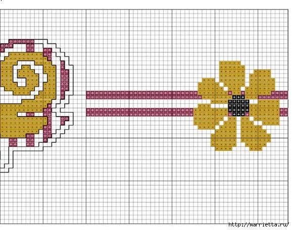 Стильная вышивка для скатерти. Схема (7) (578x456, 195Kb)