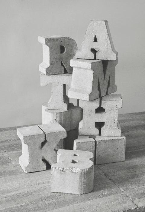 Гипсовые буквы своими руками
