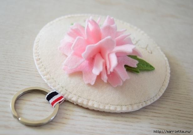 Брелок - кошелек с цветком из фетра (18) (616x431, 112Kb)
