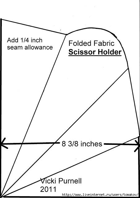 Curved Top Fabric Scissor holder 1 (452x640, 82Kb)