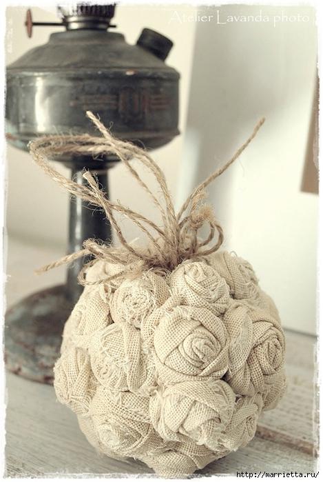 Текстильные шары из крученых розочек (4) (469x700, 238Kb)