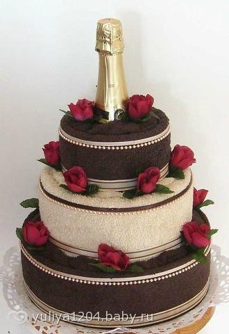 Полотенце торт своими руками