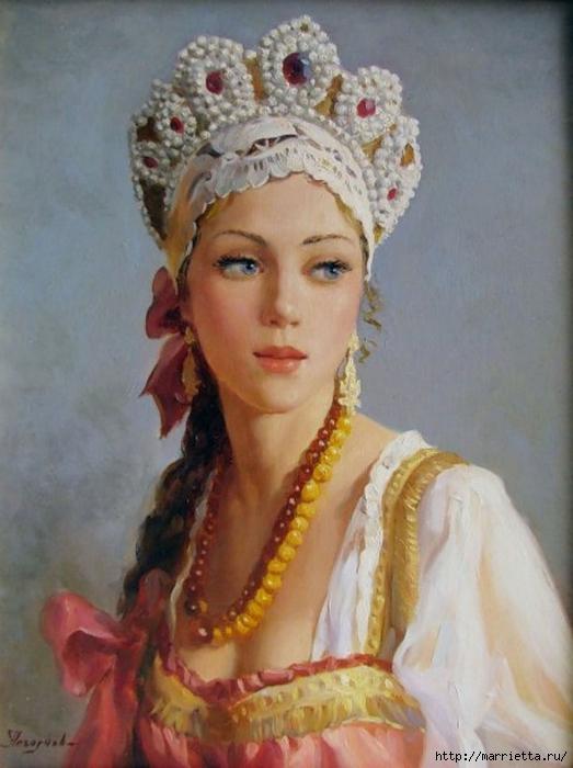 Владислав Нагорнов. Русская красавица (2) (523x700, 222Kb)