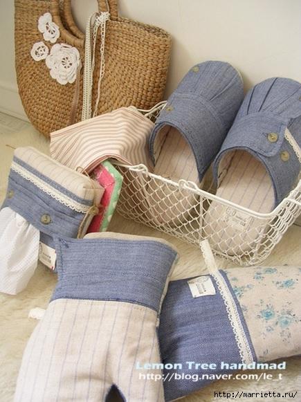 Шьем тапочки и прихватки из джинсовой рубашки (7) (435x581, 194Kb)