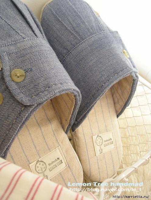 Шьем тапочки и прихватки из джинсовой рубашки (15) (496x655, 224Kb)