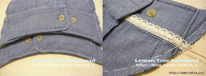 Шьем тапочки и прихватки из джинсовой рубашки (25) (700x259, 183Kb)