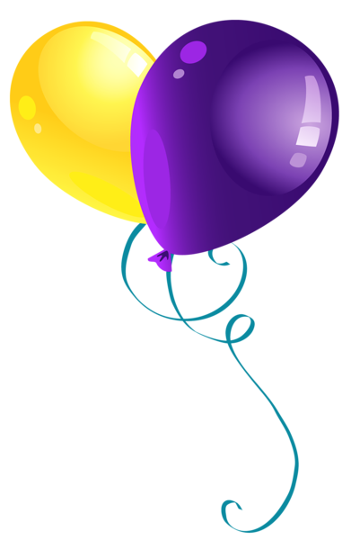 Yellow_and_Purple_Balloons_PNG_Clipart_Picture (391x600, 65Kb)