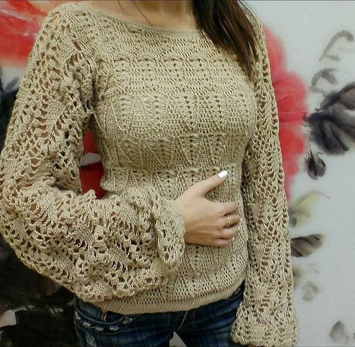 Блузы. Схемы вязания
