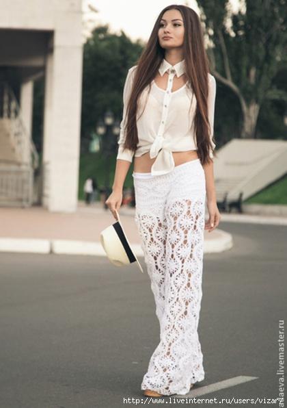 """Кружевные брюки """"Fleurs"""