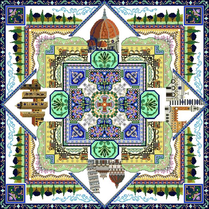 Tuscany Town Mandala- CHAT16_ 341х341_91цвет (700x700, 948Kb)