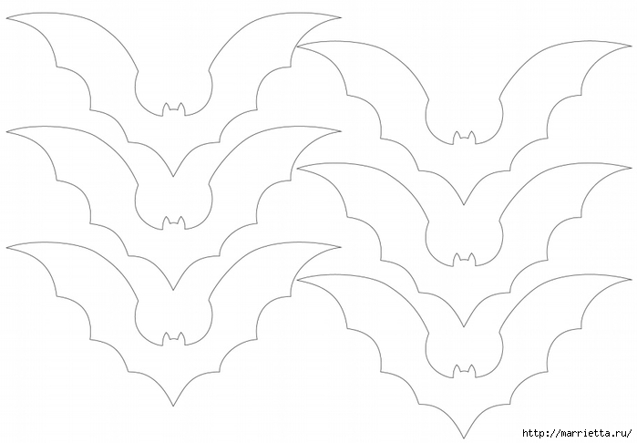 К Хэллоуину. Гирлянда черных летучих мышей (2) (700x486, 115Kb)