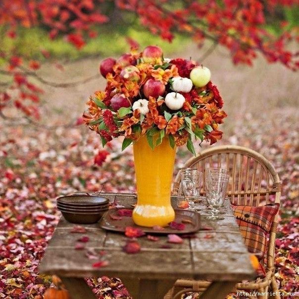ЯБЛОКИ в интерьере. Самые красивые идеи осеннего декора (46) (604x604, 251Kb)
