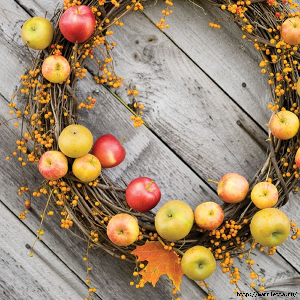 ЯБЛОКИ в интерьере. Самые красивые идеи осеннего декора (87) (600x600, 291Kb)