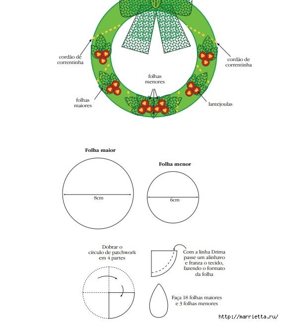 Как украсить входную дверь к празднику помпонами (3) (566x649, 115Kb)