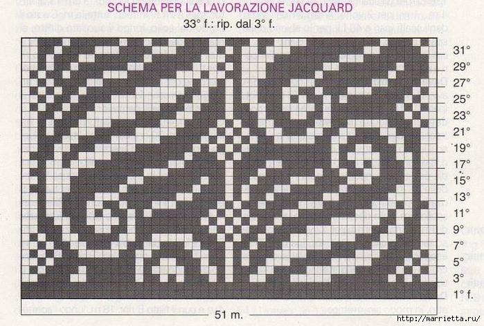 Пуловер и безрукавка красивым узором спицами (4) (700x472, 295Kb)