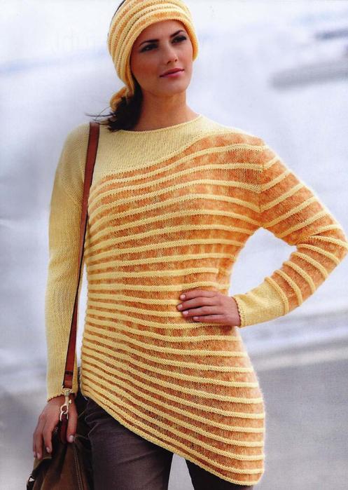 Размеры пуловера: 36-38,