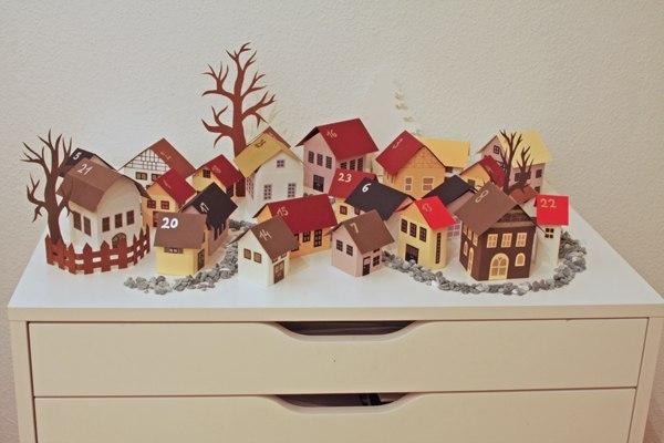 Шаблоны домиков для новогодней поделки