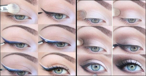 Пошаговый макияж для карих глаз со стрелками пошаговое