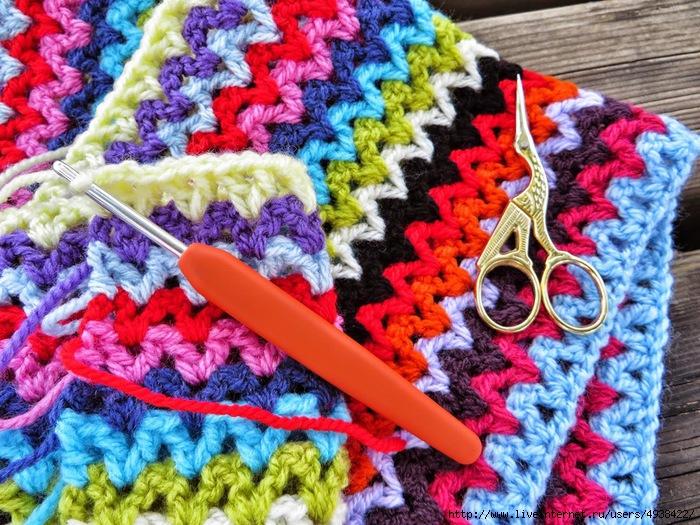 Пряжи для вязания пледов крючком 847