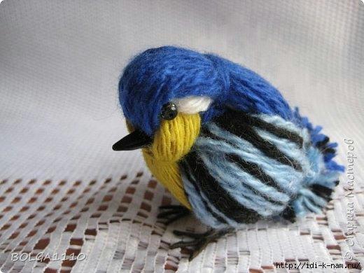 как сделать птичку из пряжи, как сделать птичку с детьми, как сделать воробья из пряжи, птичка своими руками, Хьюго Пьюго рукоделие птичка из пряжи,
