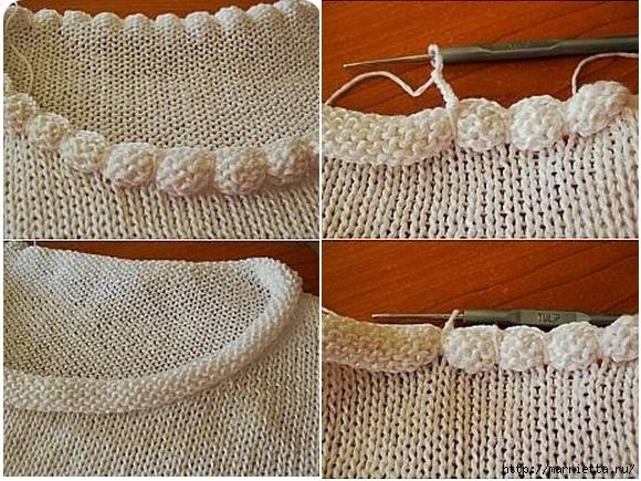 обработка горловины пуловера спицами (1) (580x435, 254Kb)